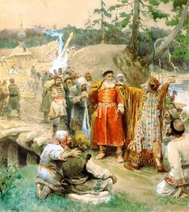 своение русскими Сибири новых земель
