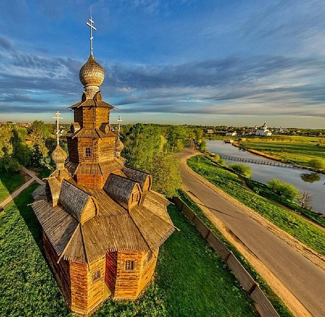 деревянная церковь в Суздале