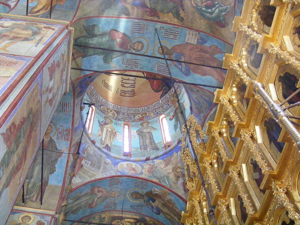 Троице-Сергиева лавра фрагмент иконостаса Успенского собора