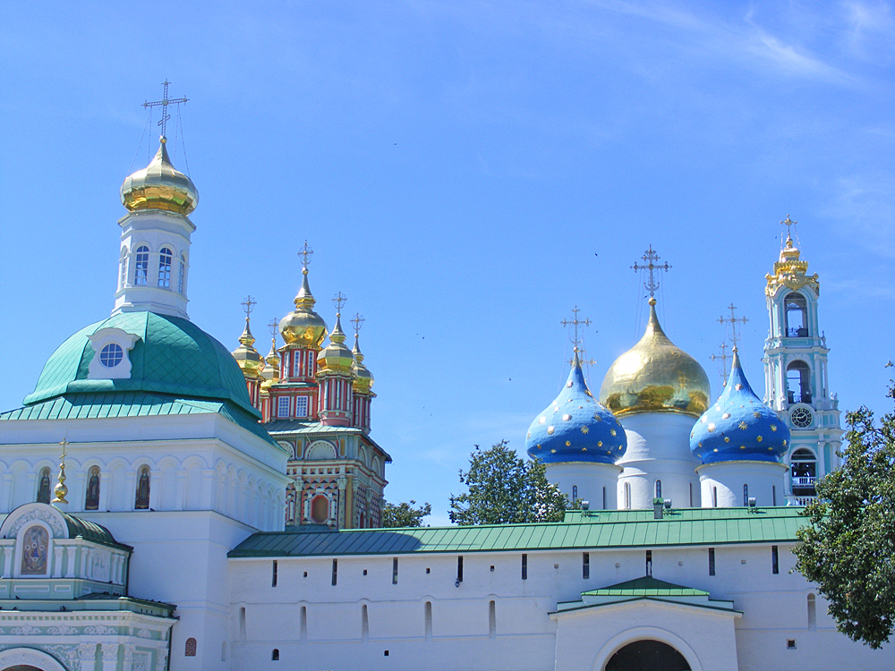 Троице-Сергиева Лавра общий вид на купола