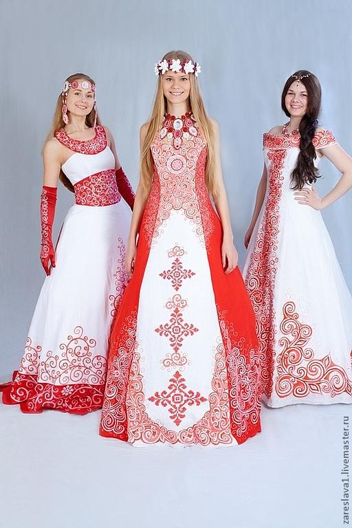 Свадебное платье в русском стиле | Я русский